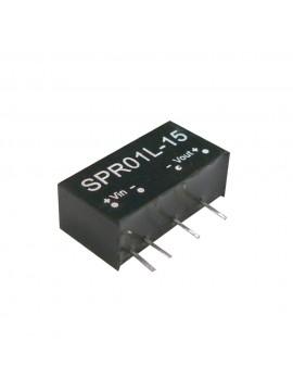SPR01N-15 Moduł DC/DC 1W 24V±10%/ 15V 0.067A