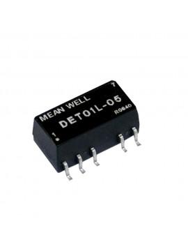 DET01L-09 Moduł DC/DC 1W 5V±10%/ ±9V ±0.056A