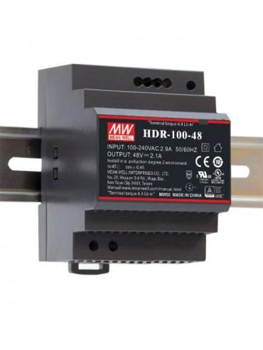 HDR-100-24 Zasilacz na szynę DIN 100W 24V 3.83A