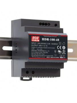 HDR-100-15N Zasilacz na szynę DIN 100W 15V 6.13A