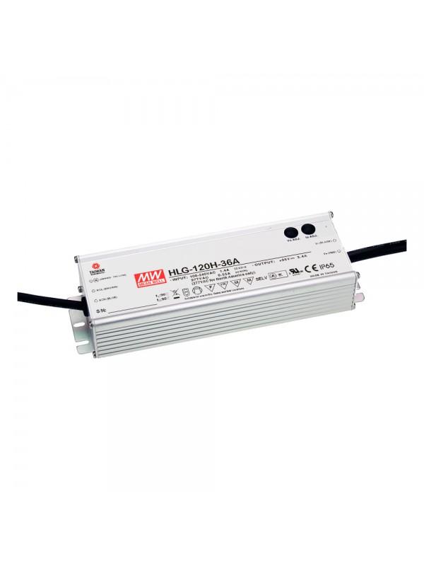 HLG-120H-36AB Zasilacz LED 120W 36V 3.4A