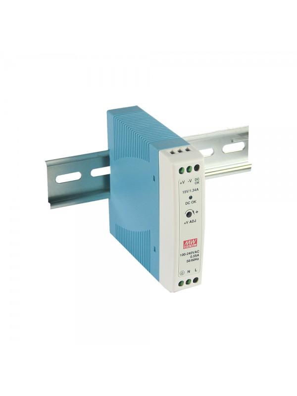 MDR-20-5 Zasilacz na szynę DIN 20W 5V 3A