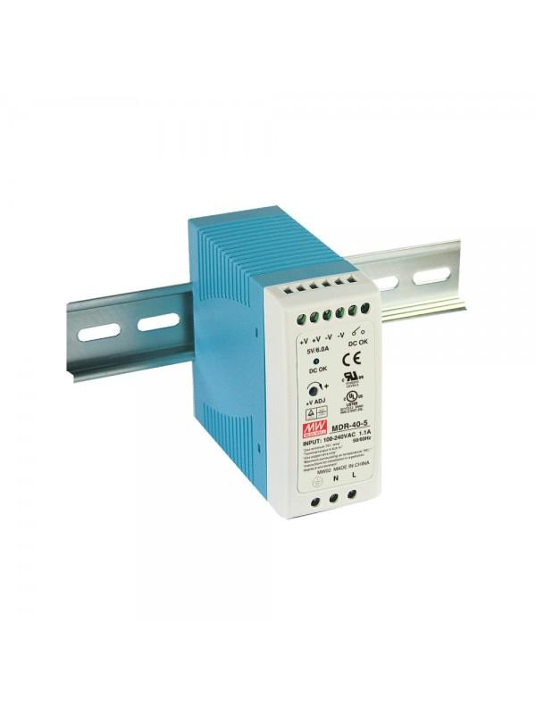 MDR-40-24 Zasilacz na szynę DIN 40W 24V 1.7A