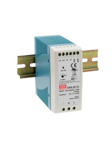 DRA-40-12 Zasilacz na szynę DIN 40W 12V 3.34A