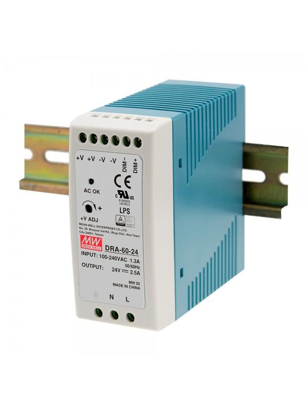 DRA-60-24 Zasilacz na szynę DIN 60W 24V 2.5A