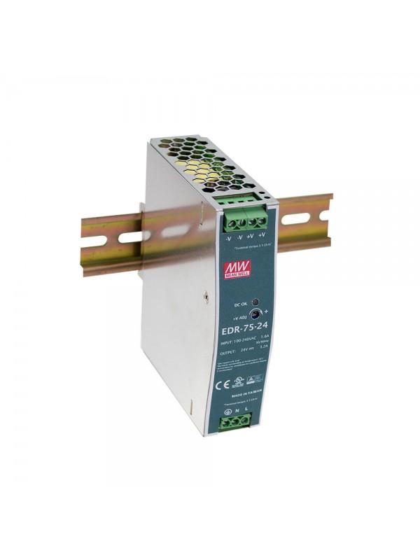 EDR-75-24 Zasilacz na szynę DIN 75W 24V 3.2A