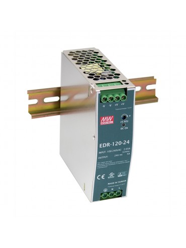 EDR-120-24 Zasilacz na szynę DIN 120W 24V 5A