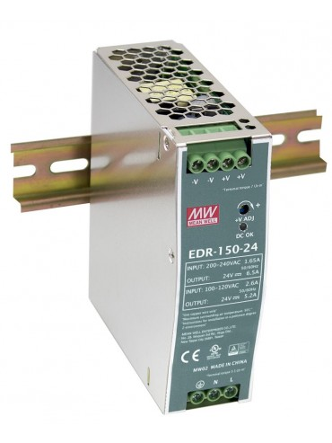 EDR-150-24 Zasilacz na szynę DIN 150W 24V 6.5A