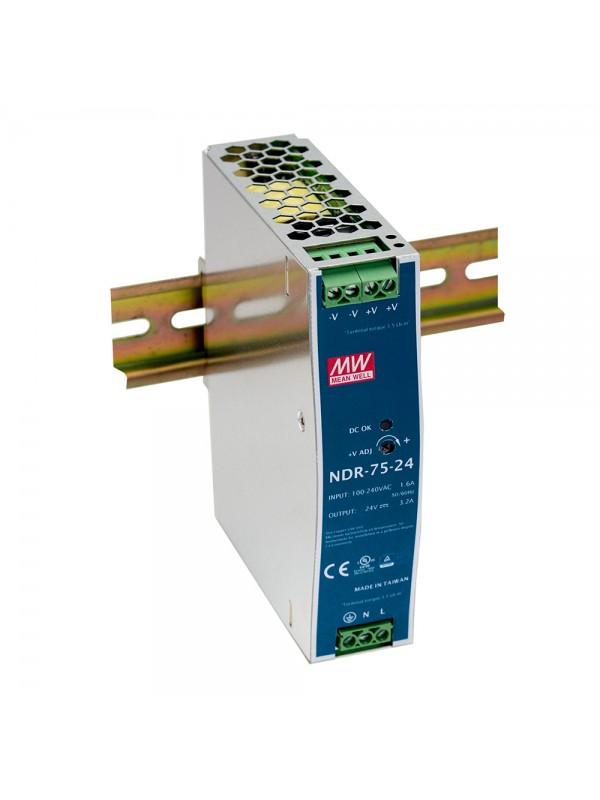 NDR-75-48 Zasilacz na szynę DIN 75W 48V 1.6A