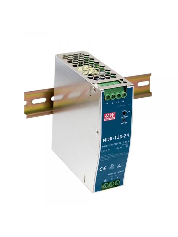 NDR-120-24 Zasilacz na szynę DIN 120W 24V 5A