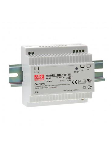 DR-100-15 Zasilacz na szynę DIN 100W 15V 6.5A
