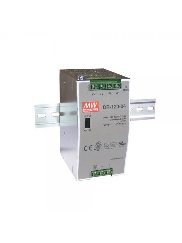 DR-120-48 Zasilacz na szynę DIN 120W 48V 2.5A