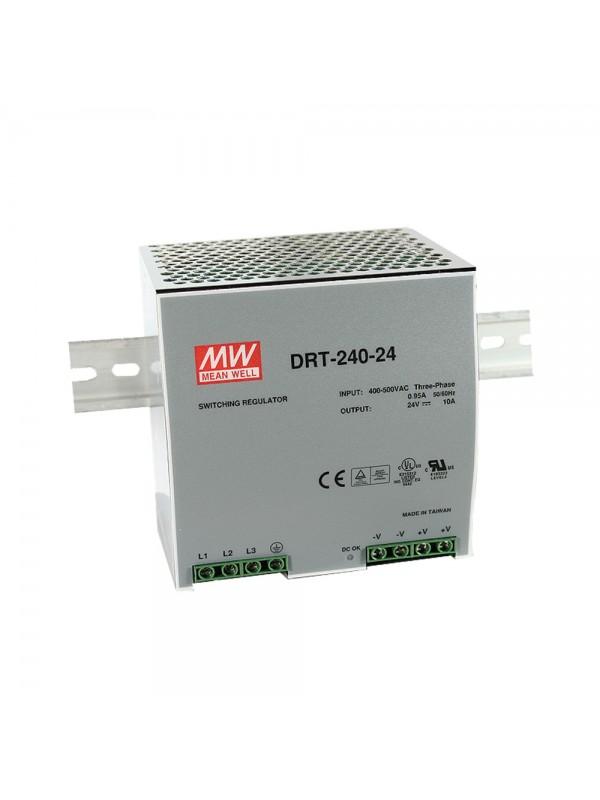 DRT-240-48 Zasilacz na szynę DIN 3-fazowy 240W 48V