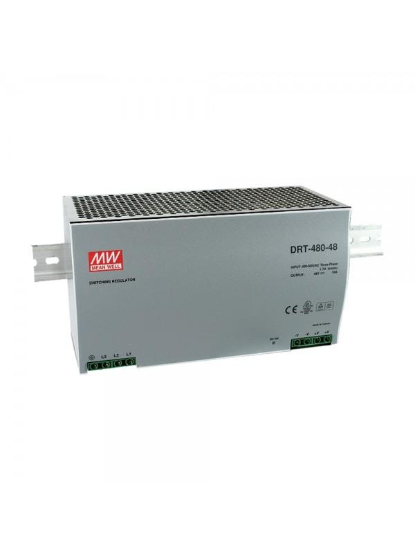DRT-480-24 Zasilacz na szynę DIN 3-fazowy 480W 24V