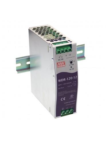 WDR-120-12 Zasilacz na szynę DIN 120W 12V 10A