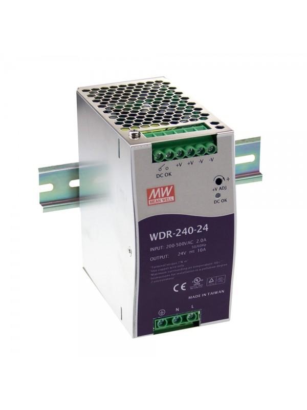 WDR-240-24 Zasilacz na szynę DIN 240W 24V 10A