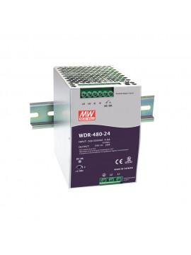 WDR-480-48 Zasilacz na szynę DIN 480W 48V 10A