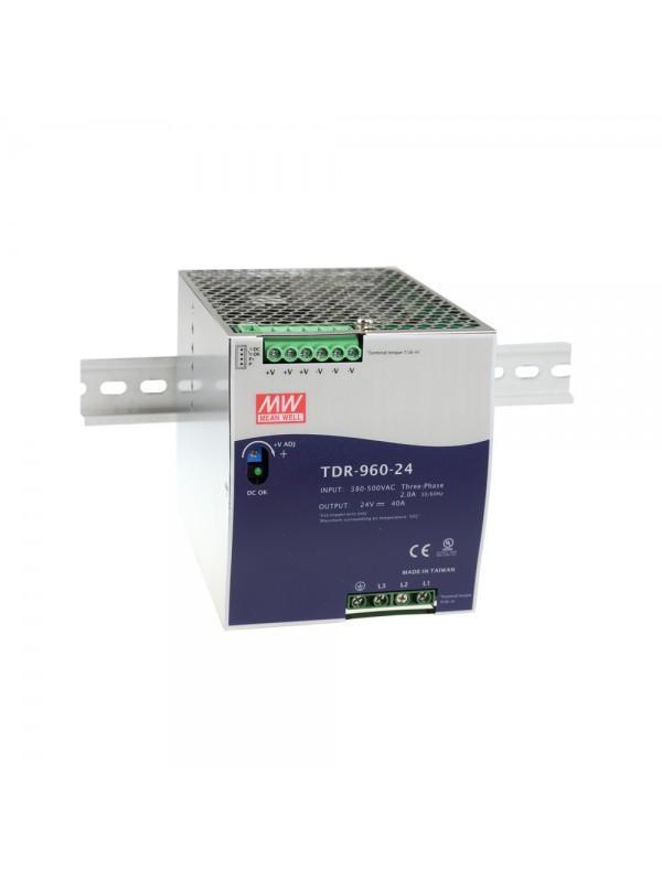 TDR-960-48 Zasilacz na szynę DIN 3-fazowy 960W 48V